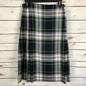 Pure Wool Tartan Plaid Wool Kilt Skirt Vintage